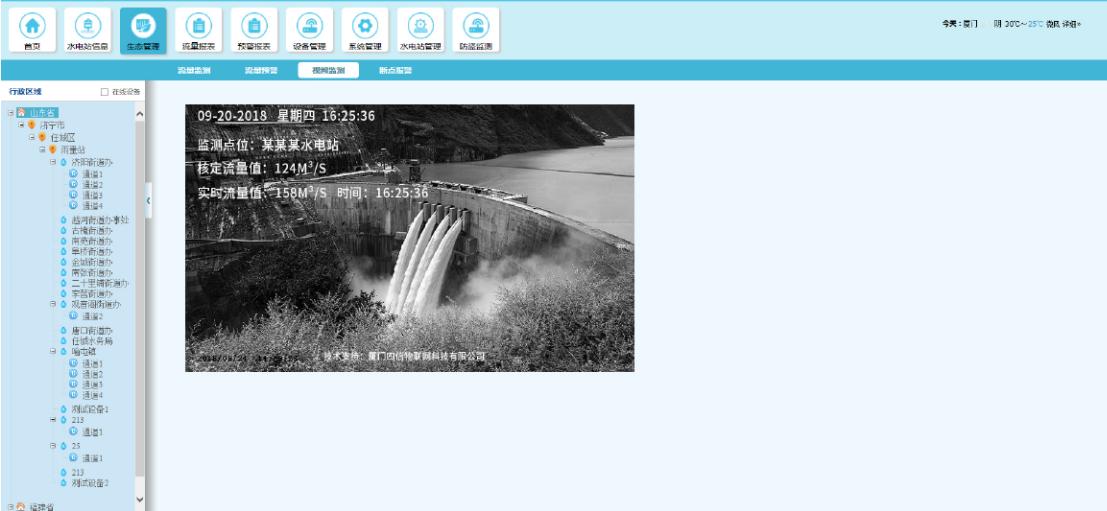 水电站下泄流量监测-图像监控