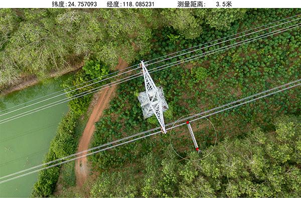 无人机电力巡线应用测距