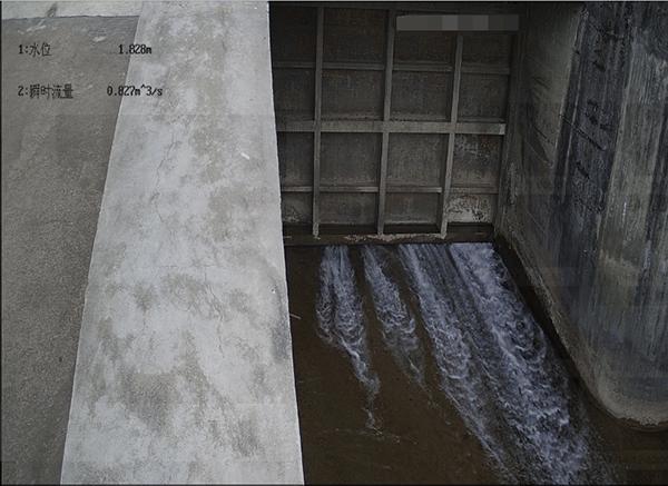 可视化水电站最小生态下泄流量监测系统现场图2
