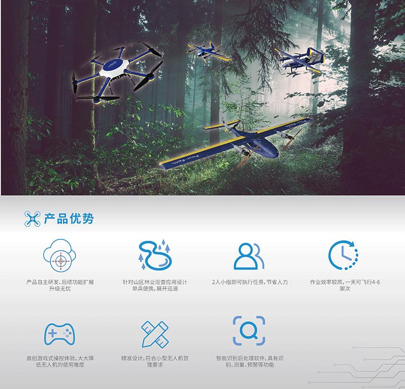 无人机林业领域应用解决方案- 产品优势